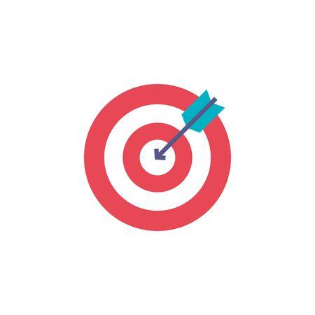 team target flat style icon