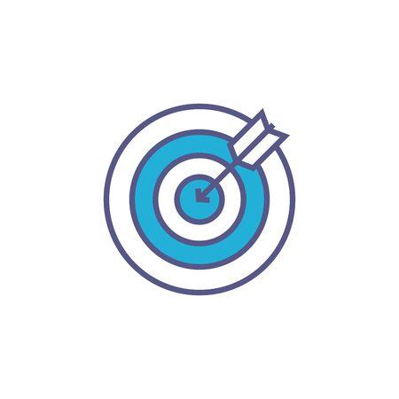 team target fill style icon Иллюстрация
