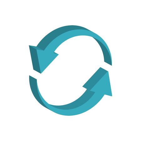 circle arrows 3d style icon Ilustrace