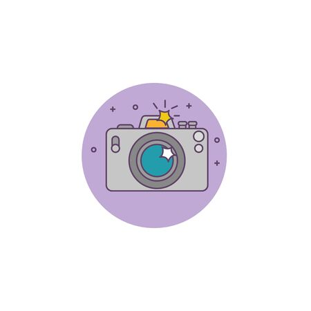 photographic camera detailed isolated icon vector illustration design
