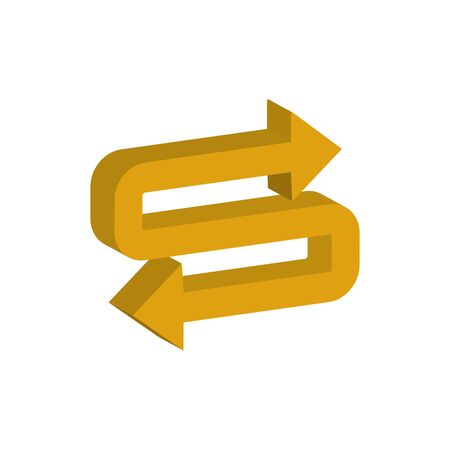 right and left arrow 3d style icon