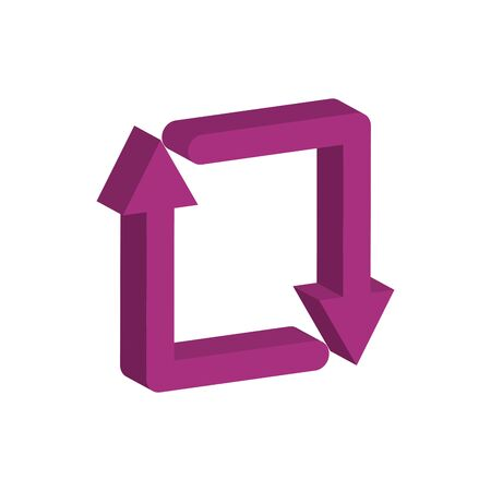 arrows around 3d style icon