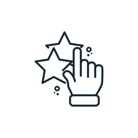startup hand pointing out line style icon Vectores