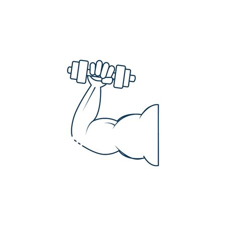 dumbbell weight lifting workout accessory vector illustration design