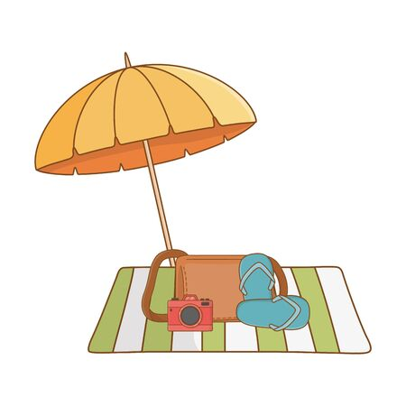 summer vacation relax cartoon vector illustration Foto de archivo - 134644118