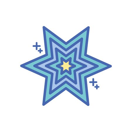 star six pointed fill style icon