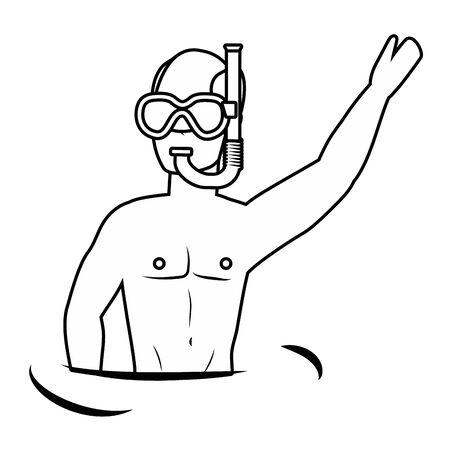 Boy with summer swimwear design Standard-Bild - 134643373