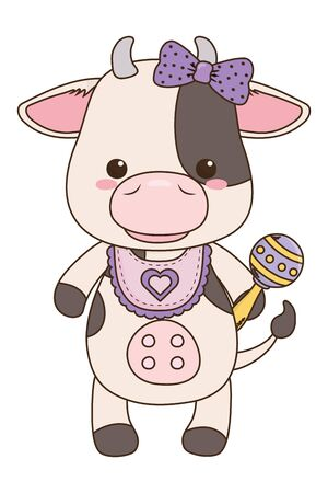 Isolated baby cow cartoon design