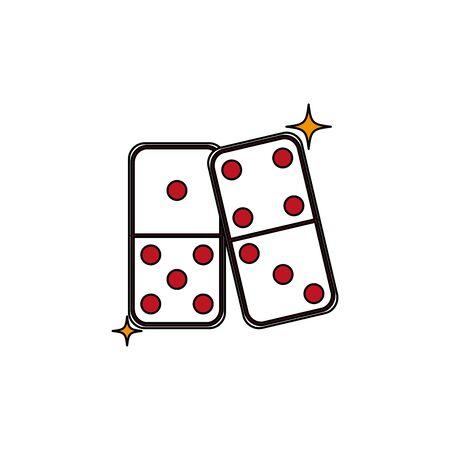 Isolated casino dice fill design