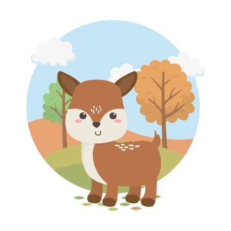 cute fawn animal farm character