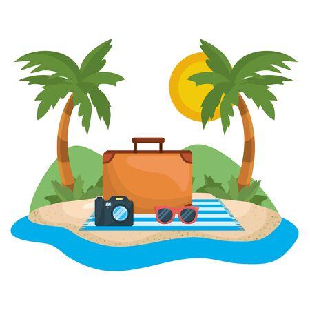 Palm tree of summer season design Ilustrace