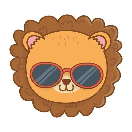 cute animal face cartoon vector illustration