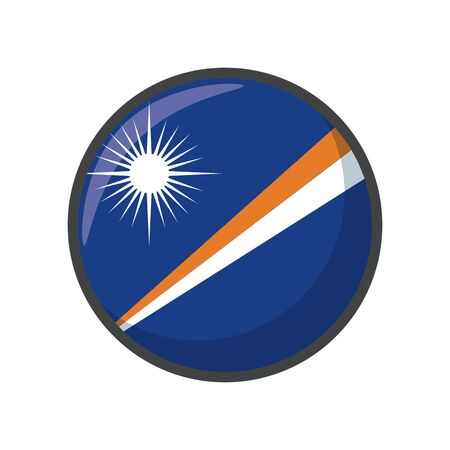 marshall islands flag design, country national state patriotism united world and international theme Vector illustration
