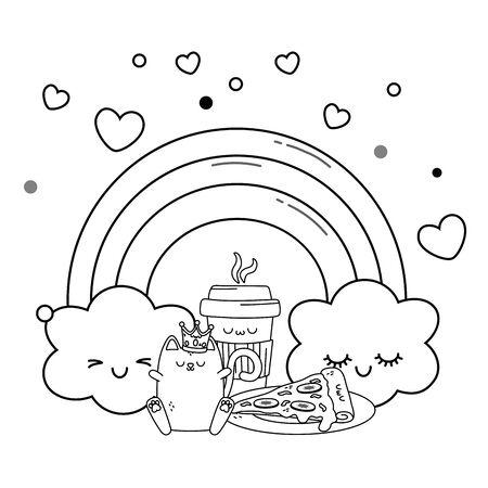 Isolated cartoon design vector illustration