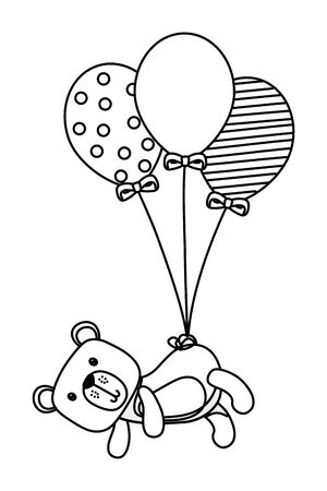 Teddy bear design, Childhood play fun kid cartoon game and object theme Vector illustration