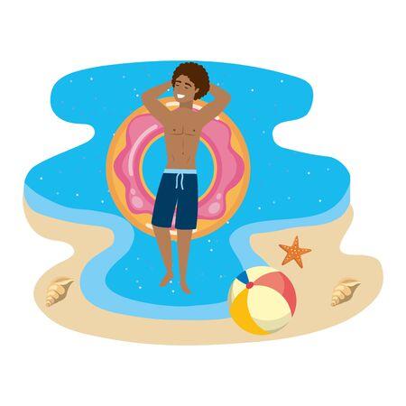 Boy with summer swimwear design Standard-Bild - 134706561