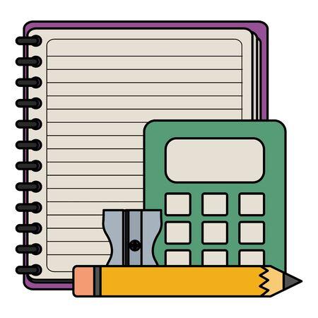notebook school supply with calculator