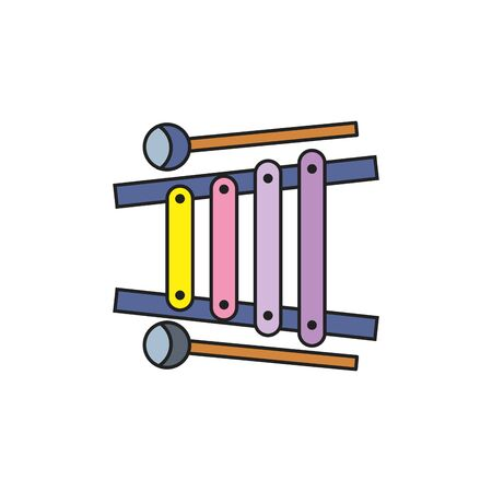 toy xylophone fill style icon