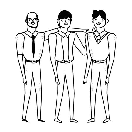 Avatar men design, Boy male person human and attractive theme Vector illustration