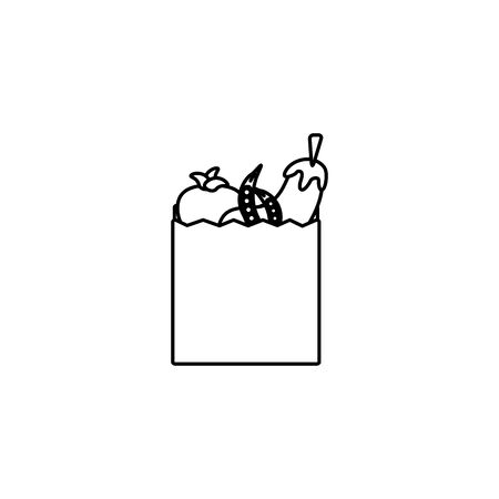 vegetables in bag line style icon