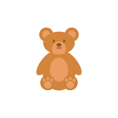 toy bear animal flat style icon