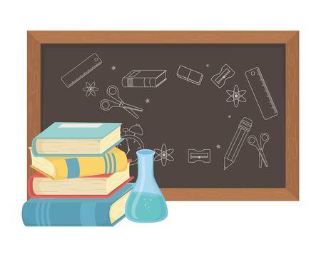 Blackboard design, Chalkboard education classroom school communication learning and message theme Vector illustration Standard-Bild - 134693964