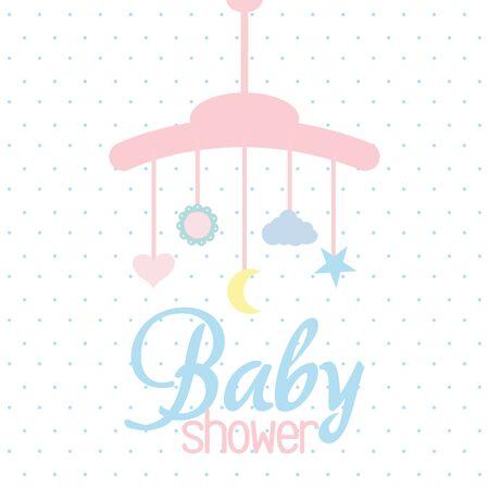 mobiele hanger baby speelgoed accessoire Vector Illustratie