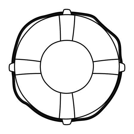Isolated safe float design vector illustration  イラスト・ベクター素材