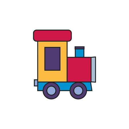 toy train fill style icon