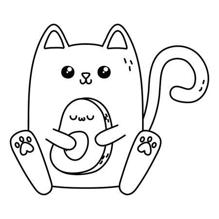 Kawaii of cat cartoon design