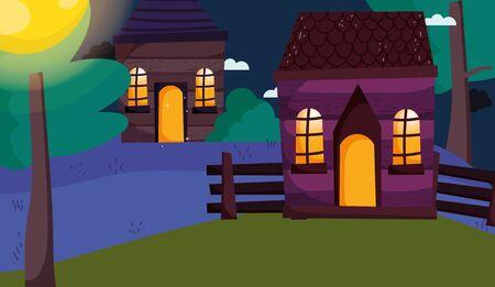 trick or treat - happy halloween Ilustracja