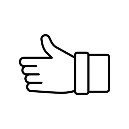 Isolated hand signal icon vector design