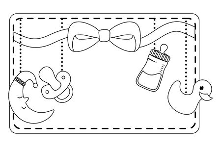 Baby shower symbol design vector illustration