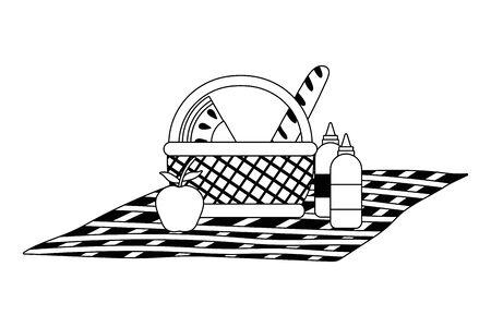 Isolated picnic basket design vector illustration Illusztráció