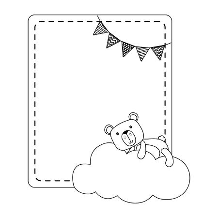 Teddy bear cartoon design vector illustration 일러스트