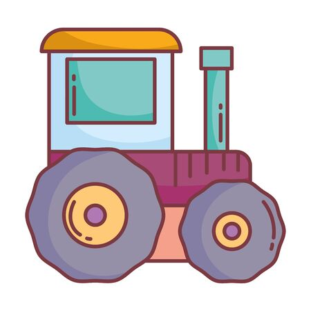 tractor agriculture hello autumn design icon vector illustration