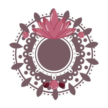 Mandale with lotus flower of bohemic concept Illusztráció