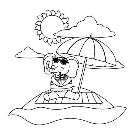 cute animal enjoying summer vacations Foto de archivo - 134761652