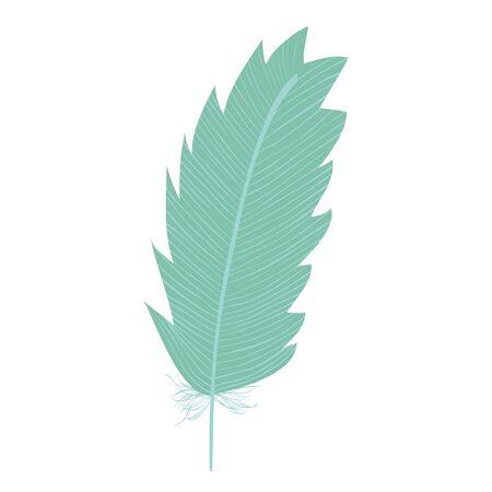 cute bohemian feather decorative icon Illusztráció