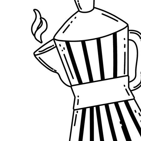 Coffee maker design, Drink breakfast beverage bakery restaurant and shop theme Vector illustration