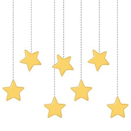 stars hanging icon cartoon vector illustration graphic design