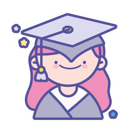 back to school education graduate happy student girl