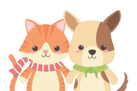 Cat and dog cartoon design Stock Vector - 134857745