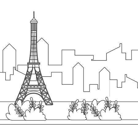 Eiffel tower of Paris design