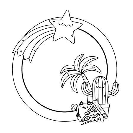 Isolated cat cartoon design vector illustration
