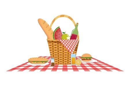 Isolated picnic basket design vector illustration  イラスト・ベクター素材