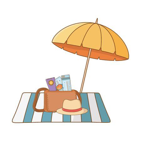 summer vacation relax cartoon vector illustration Foto de archivo - 134857716