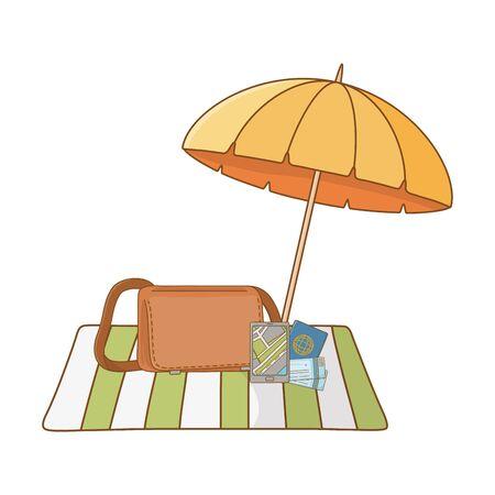summer vacation relax cartoon vector illustration Foto de archivo - 134847780