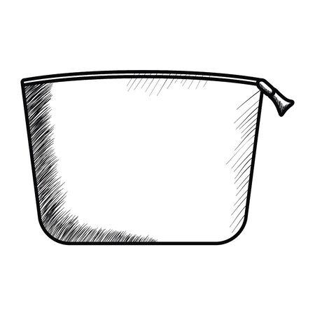 makeup bag handle isolated icon