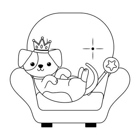 Isolated dog cartoon design Stock Vector - 134856971